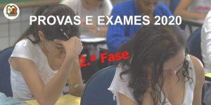 Calendário de Exames 2020 – 2.ª Fase