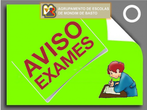 Aviso – Época de Exames do Ensino Profissional