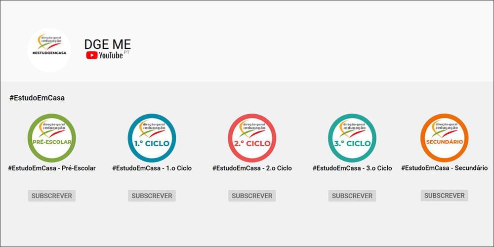 #EstudoEmCasa – no Youtube