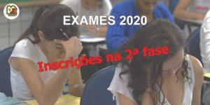 Inscrições para a 2.ª fase dos Exames Nacionais